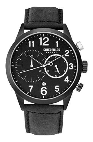 CAT EX.163.34.112 - Reloj de pulsera hombre, piel, color negro