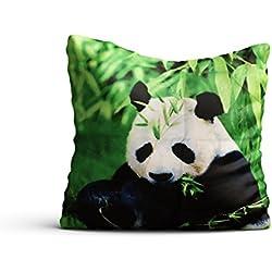 Fundas de almohada 3d dulce oso panda 2unidades de 40x 40cojín funda de almohada decoración 16pulgadas