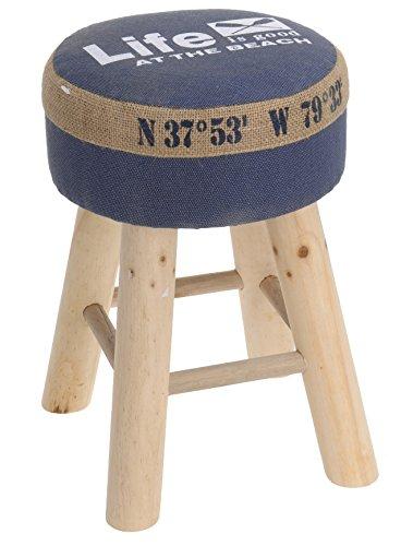 Hocker Polsterhocker Sessel Stuhl Holz Barhocker Barstuhl Bistrostuhl Sitzbank (blau)