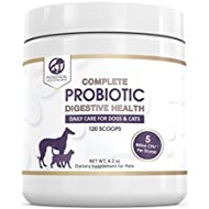 Petastical Probiotics for Dogs and Cats | 5 BILLION CFU Max Strength Canine Feline Probiotic Powder | Acidophilus Pet Supplement for Diarrhea Constipation Skin Allergies Itching Gas | Made in USA