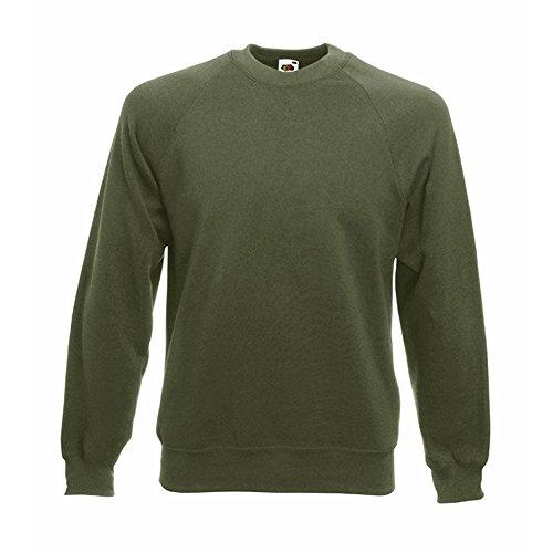 Fruit of the Loom - Classic Sweatshirt 'Raglan Sweat' XL,Classic Olive Fruit Of The Loom Classic Sweatshirt