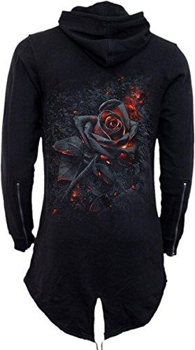 Spiral Burnt Rose Girl-Kapuzenjacke schwarz Schwarz