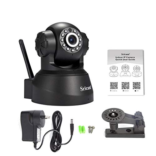 Schwarzes tragbares 720P (Full-Hd) Sricam drahtloses IP-Webcam-Kamera-Nachtsicht 11 führte Wifi-Nocken M-Jpeg Video Aj-C2Wa-C118 Widescreen-1080p-led-hdtv