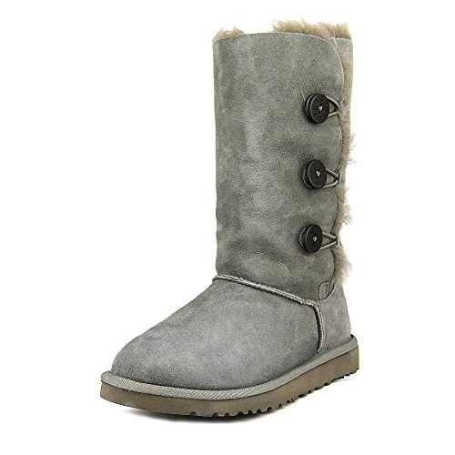 ugg-australia-bailey-button-triplet-grey-youths-boots-size-35-eu