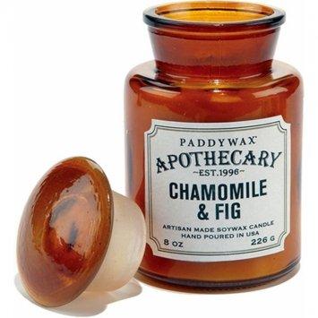 Paddywax – Ambre – Collection apothicaire Luxe Fine Bougie parfumée en cire de soja – Artisan – Coulée à – 60 Heures – Recyclable Ambre Bouteille apothicaire – Camomille & Figue