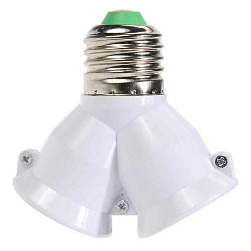 Globeagle 2 in 1 E27 Lampensockel Splitter Adapter Leuchtmittel Sockel Ständer Halter (Sockel-schmuck-halter)
