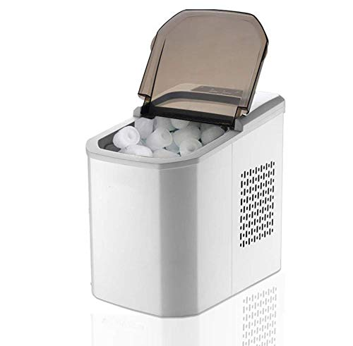POIUYT Zähler Top Eismaschine Maschine Tragbare Kompakte Elektrische Hohe Effizienz Express Eisherstellungsmaschine Mini Cube 15 Kg EIS Pro 24 Stunden Mit Eisportionierer 22 *   30 5 * 32 5 cm,White