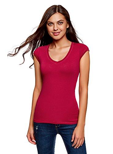 Oodji ultra donna t-shirt basic (pacco di 2), multicolore, it 46/eu 42/l