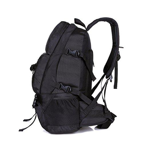 Mode Schulter Tasche Wasserdicht Nylon Rucksack Im Freien Rucksack Black