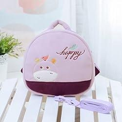 Hollwald Mignon Sac /sac à dos harnais de sécurité anti-perte Maternelle Cartable d'Ecole Animal Cartoon Dessin pour Enfant Bébé Fille Garçcon (violet)
