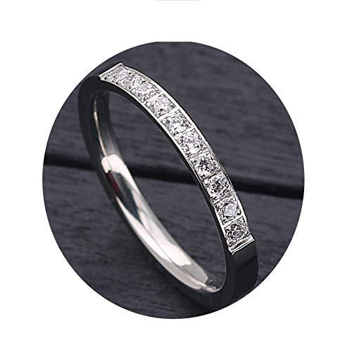 DOLOVE Edelstahl Ring Männer 1.5 MM Rund Zirkonia Eheringe Partnerringe Silber Ring Freundschaft Gr.62 (19.7) - Aventurin Männer Ringe Für