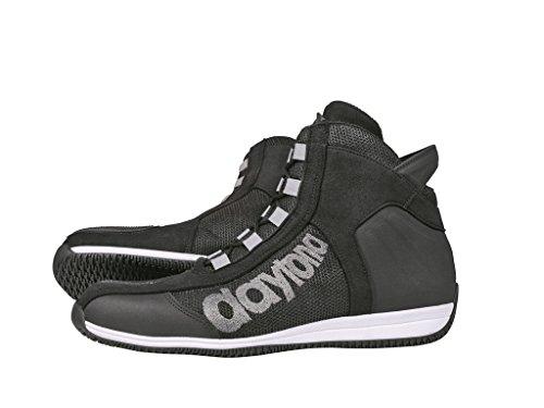 DAYTONA Stiefel Motorradstiefel Schuh AC4 WD schwarz-weiß Gr. 42