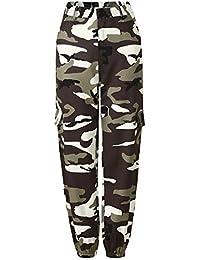 d4a37d3def0cf9 Hippolo Camouflage Hose Frauen Lange Hose Drucken Elastische Taille Casual  Camo Hose Pant Harajuku mit…