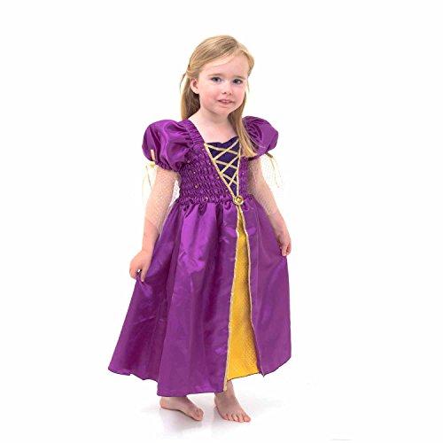 Mittelalterliche Kostüm Mädchen Prinzessin (Mittelalterliches Prinzessin Kostüm - Mittelalter Kleid Kinder 3-8 Jahre alt (116) - Lucy)