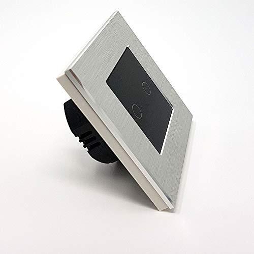 Lumtouch - interruptor táctil de 2 botones - diseño moderno, elegante y...
