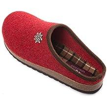 ultime tendenze classico shopping Amazon.it: pantofole tirolesi - Rosso