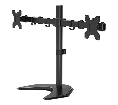 "1home Double Twin Arm Desk Mount Stand LCD LED Monitor Computer 13""-27"" Screen TV"