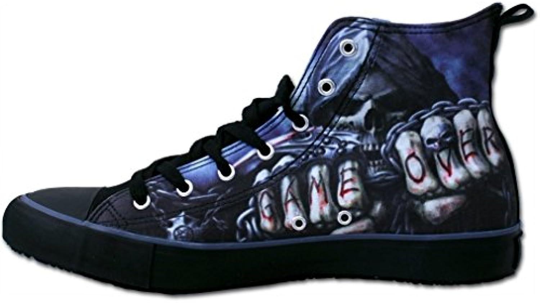 Spiral High Top Gothic Herren Sneakers Sensenmann   Game Over Sneaker