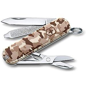 Victorinox Taschenmesser Classic SD (7 Funktionen, Klinge, Schere, Nagelfeile) desert camouflage