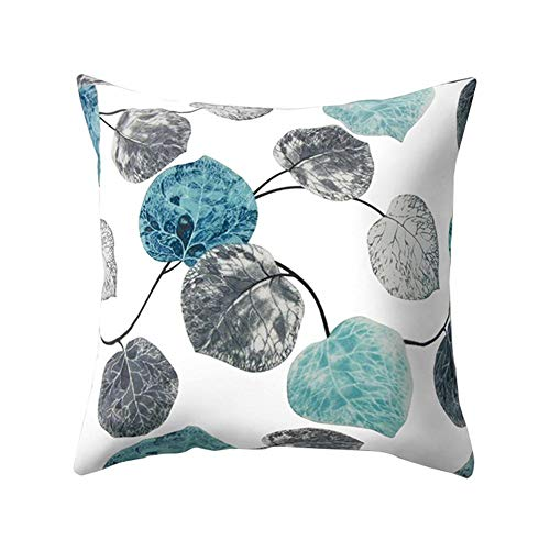 Gettare Pillow Cases, Moda Nordic Semplice Grigio Blu Foglia Peach Cashmere Piazza Car Divano Letto Decorativo Domestico 45x45 Federa