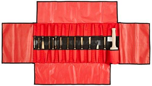 Stubai Stechbeitelsatz in Rolltasche, 15-teilig, rot, 510215