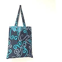I was A Sari Shopper Women's Bag, Black & Blue