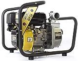 Hochleistungs- & Tragbare Benzin Reinwasserpumpe mit 21 000 l/h Förderleistung ✦ 40m Wasserhub ✦ 3600 U/min Viertakt-Benzinmotor und enthaltenem Zubehör, von WASPPER (WP20-P)