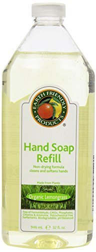 Earth Friendly Products Hand Soap Refill, Lemongrass, 32 Ounce by Earth Friendly Products (Lemongrass Soap Hand)