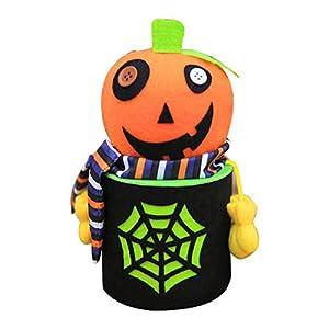 Wafalano Horror Skull Gesichtsmaske, Halloween Cobweb Candy Snack Taschen Cookie Food Aufbewahrungsboxen Zombie Ghost Kürbis Black Cat Style Party Einzigartige Geschenk-Boxen