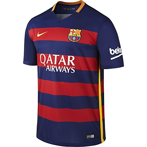 Nike Herren Kurzarm Trikot FC Barcelona Home Stadium Loyal Blue/Storm Red/University Gold, XXL - Gewicht-hoodie T-shirt Geringes