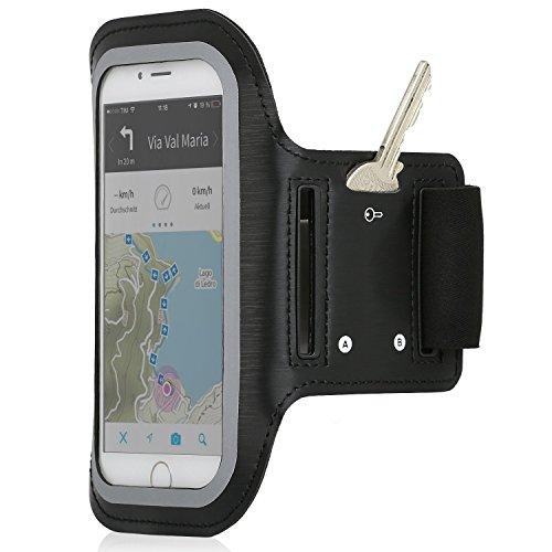 Wicked Chili Sport Armband EasyAction Dual für Apple iPhone XS/X / 8/7 / SE / 6/5 Handy Smartphone Bluetooth Kopfhörer Ready (Max. Geräte Maße 145x72mm, schweißfest, Schlüsselfach) Htc Dual-band