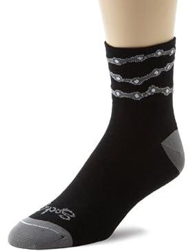 Sockguy Classic - Calcetines, unisex, color Varios colores - Chain Black, tamaño S/M