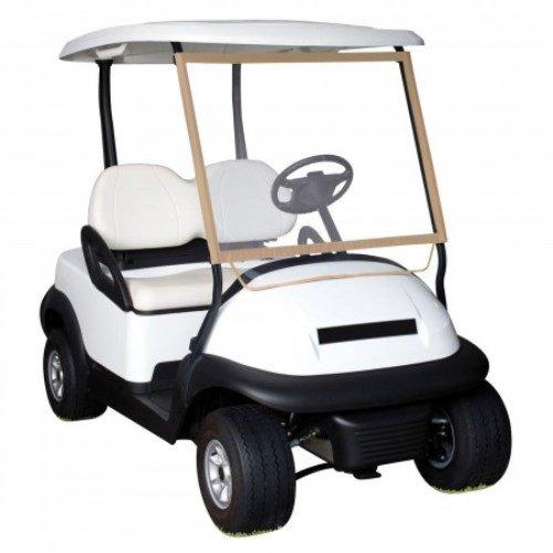 Classic Zubehör Fairway Deluxe Tragbares Golf Cart Windschutzscheibe, sand/transparent