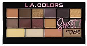 L.A. Colors Sweet 16 Color Eyeshadow Palette, Seductive, 20g