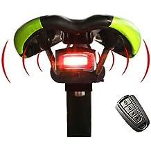 West Radfahren Bike Intelligente Diebstahlsicherung (Fahrrad Rücklicht Alarm LED mit Achtung Elektrische Bell Bike Safety Light