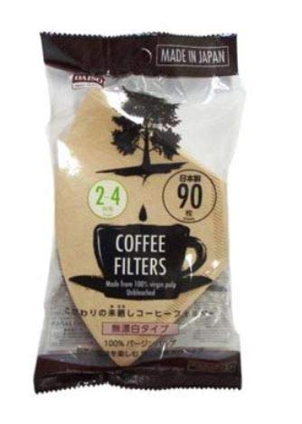 90Blatt Einweg Kaffee Filter 2bis 4Tassen aus 100% Virgin Pulp Made in Japan