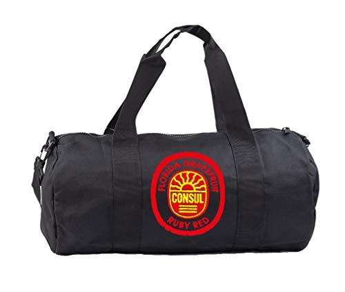 Hippowarehouse Florida Gfruit Consul Ruby Red Label Gymwear Gym Duffle Cylinder Uniform Kit Bag 50 x 25 x 25cm 20 litres