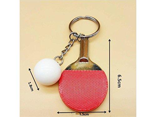 Hausbedarf Sportartikel Anhänger Ping Pong Schläger Keychain Tischtennis Schlüsselanhänger (Rot) Startseite Accesserios