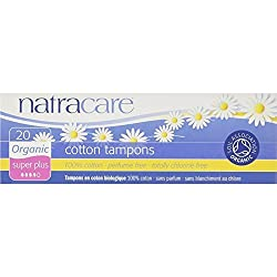 NATRACARE Natracare Organic Cotton Tampons Super Plus 20 ea ( Pack of 4)