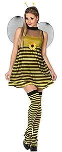 Atosa-26759 Disfraz Abeja, color amarillo, M-L (26759)