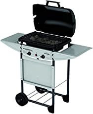 Campingaz Expert Plus Barbecue Gas con Pietre Laviche, Grill Barbecue Compatto a Gas con 2 bruciatoreiatore, Potenza 7 kW, Cavo in Acciaio Cromato, 2 Ripiani Laterali