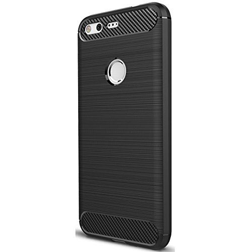 Google Pixel Hülle, Ultra Light Slim Shockproof Silikon TPU [Anti Slip] [Kratzfest] Case für Google Pixel Schutzhülle - Schwarz Ultra Light Case