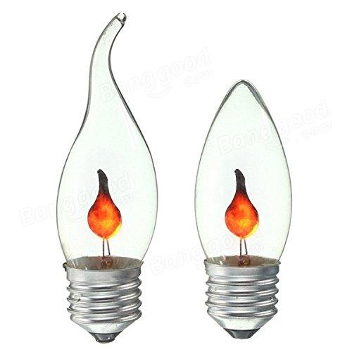 Global Retro fuego llama vela edison bombilla lámpara