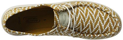 camel active Damen Cloud 73 Sneakers Gelb (cord/white 03)