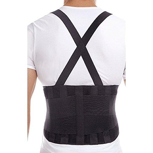 Fascia per schiena -Cintura lombare per lavoro-Cintura lombare elastica da lavoro-Corsetto per Sollevamento Pesante Lavoro Large