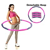 DIY Weighted 1kg Hula Hoop Detachable Hoop Thin Waist Slimming Soft Foam Sports Equipment 96cm wide for Exercise and Fitness
