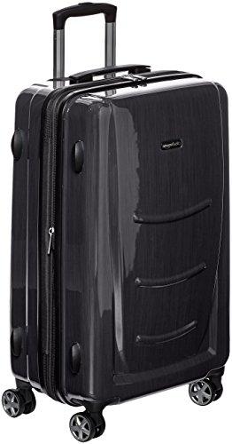 AmazonBasics Valise rigide à roulettes pivotantes, 68 cm, Gris ardoise