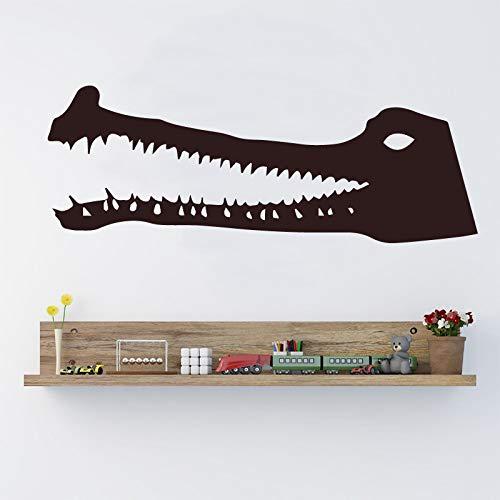 WSYYW Cartoon-Stil Krokodil-Aufkleber Hauptdekoration Nordischen Stil Hauptdekoration Kinderzimmer Diy Hauptdekoration Aufkleber Wandaufkleber Home Gardening Weiß M 30cm X 10cm
