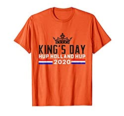 Königstag Holland Hup Shirt Holland Koningsdag 2020 T-Shirt