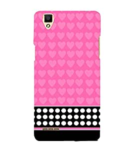 Pink Pattern 3D Hard Polycarbonate Designer Back Case Cover for Oppo F1
